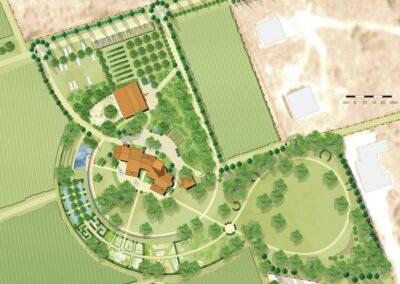 Plan einer Freianlage von Hubert Wendler