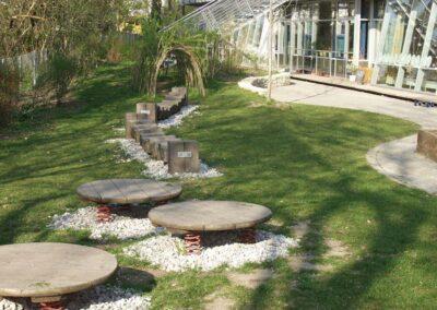 Gartengestaltung an der Schule Jenaer in München